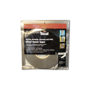 "18-1 Gray Closed Cell Foam Tape - 3/16"" x 3/8"" x 17'"