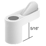 WD106-1 - Plastic Wing Clips - White 5/16""